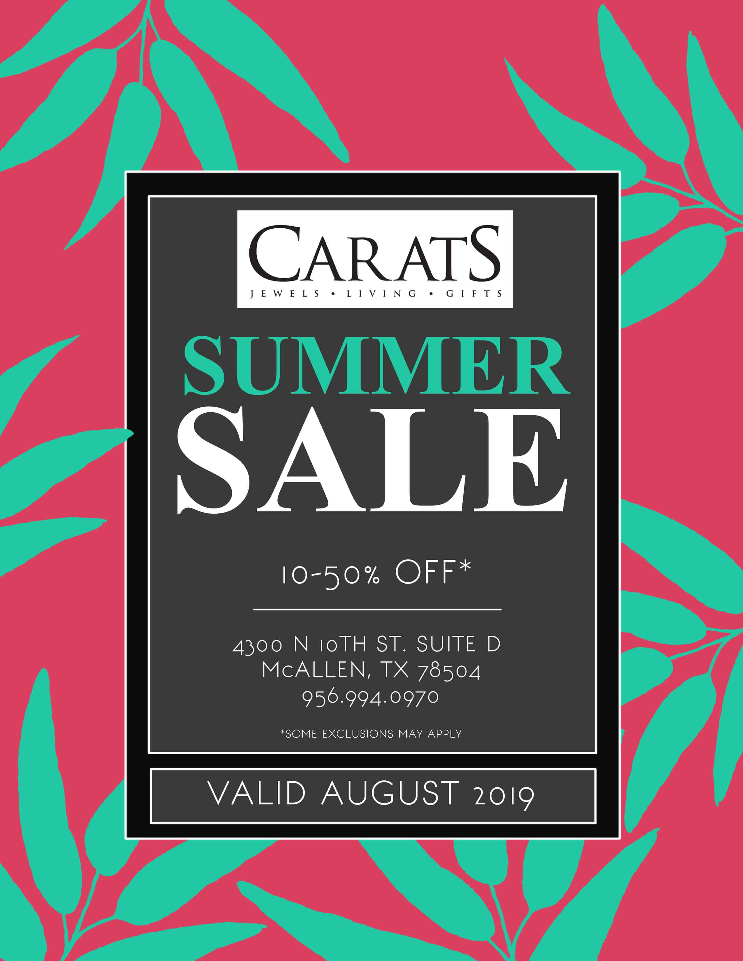 Carats Summer Sale is here!